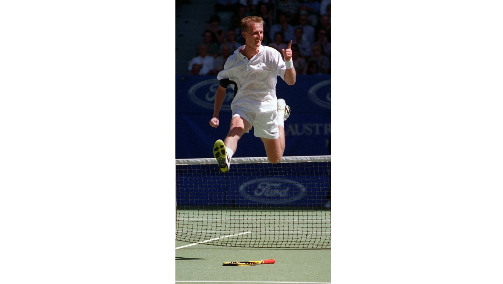Ex-Tennisprofi Petr Korda beim Jubel (Photo by The Age / Getty Images)
